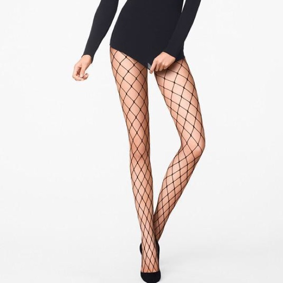 6aff17725 Wolford Kaylee Fishnet Tights NWT